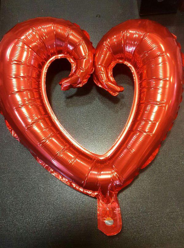 بادکنک فویلی طرح قلب قرمز