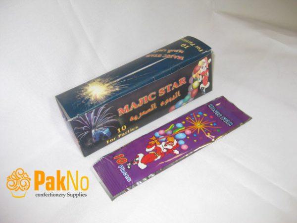 فشفشه سیمی 10 بسته 10 تایی کاربردی در جشن تولد ها و مراسم و همچنین برای کودکان بی خطر است
