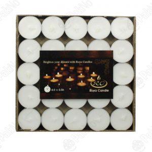 شمع سفید سکه ای