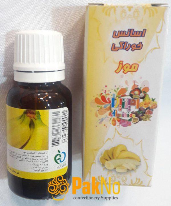 اسانس خوراکی قطره ای موز 50 گرمی به عنوان طهم دهنده استفاده میشود.