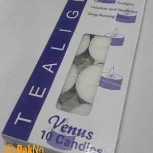 شمع وارمر سفید 10 تایی مخصوص برای تزئین