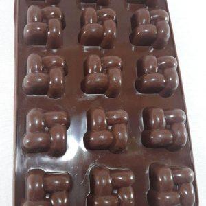 قالب سیلیکونی شکلاتی مخصوص پاستیل شیرینی های ریز خانگی و شکلات