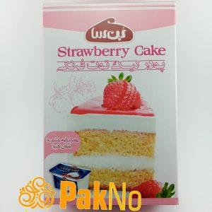 پودر کیک توت فرنگی