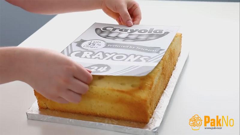 تهیه کیک با خمیر فوندانت