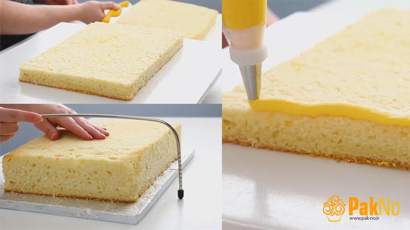 برش بیسکویت کیک