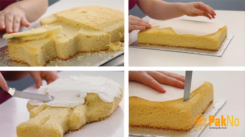 کیک مجسمه ای یا عروسکی با خمیر فوندانت