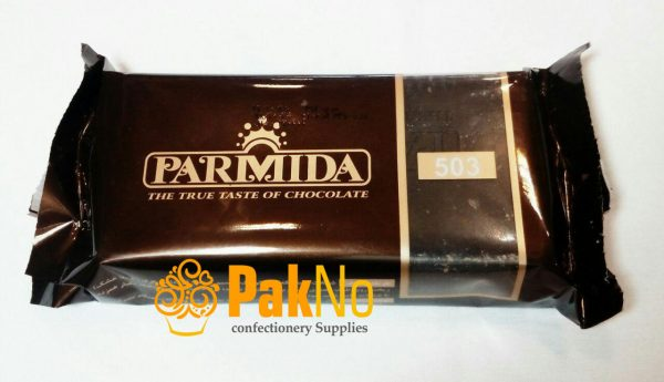 شکلات سیاه تلخ پارمیدا 335 گرمی مناسب برای روکش کیک