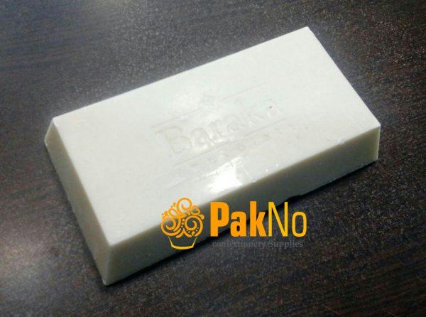 شکلات سفید 350 گرمی baraka مورد استفاده برای روکش و تزئین کیک و دسر
