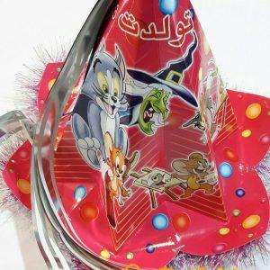 کلاه تولد 6 ضلعی زر زری مناسب برای تولد کودکان