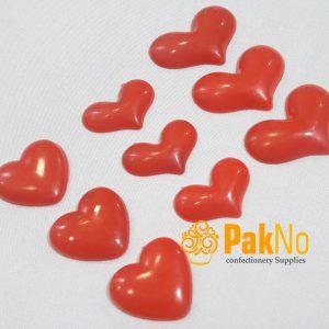 قلب تزئینی پلاستیکی قرمز در 3 شکل و اندازه مختلف