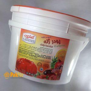 پودر ژله پرتقال سطل 3کیلویی مخصوص ژله و دسرهای ژله ای