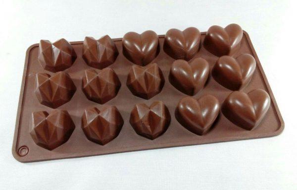 قالب سیلیکونی شکلاتی با طرح قلب