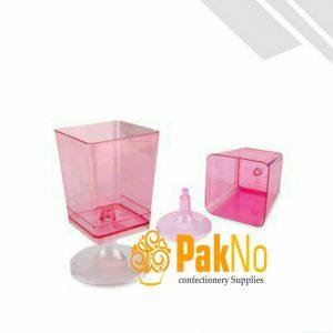 لیوان مربع متوسط پلاستیکی