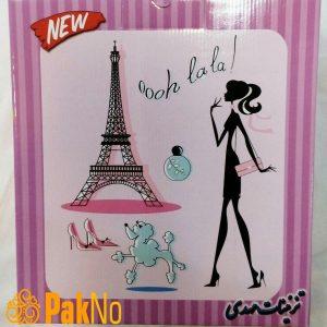 تم صورتی دخترانه مدل پاریس